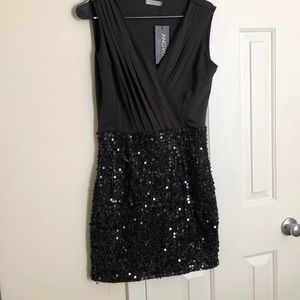 Dresses - Black Sequin Dress